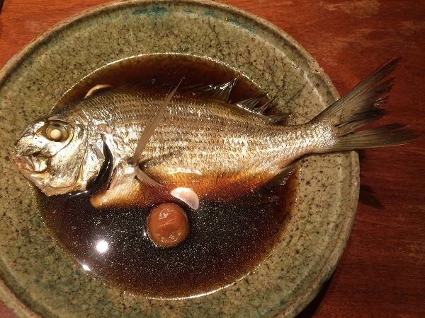 鯛めし銀平 銀座店 平鯛の煮つけ