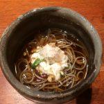 鯛めし銀平 銀座店 山菜蕎麦