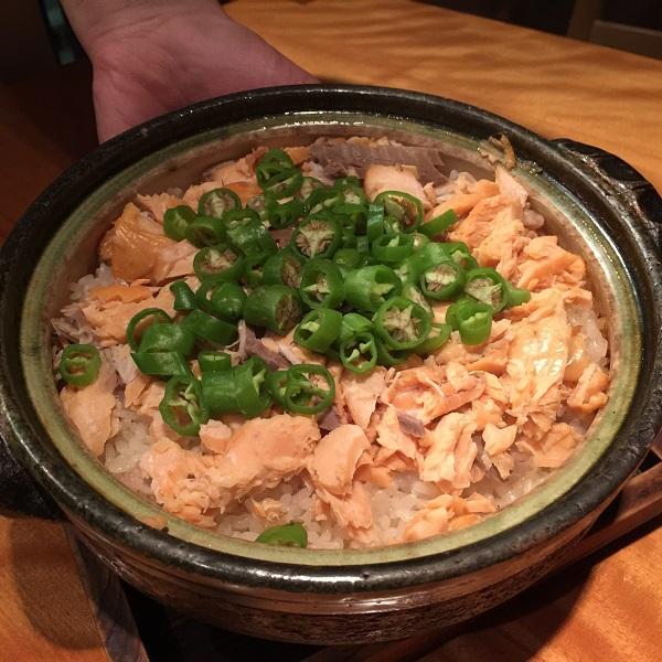 鮭とオクラの炊き込みご飯