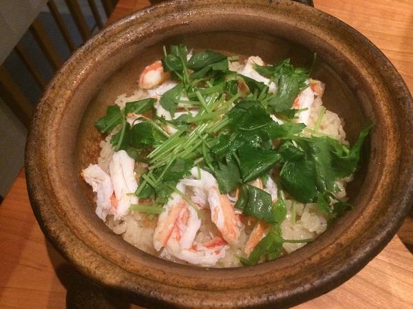 蟹の土鍋飯