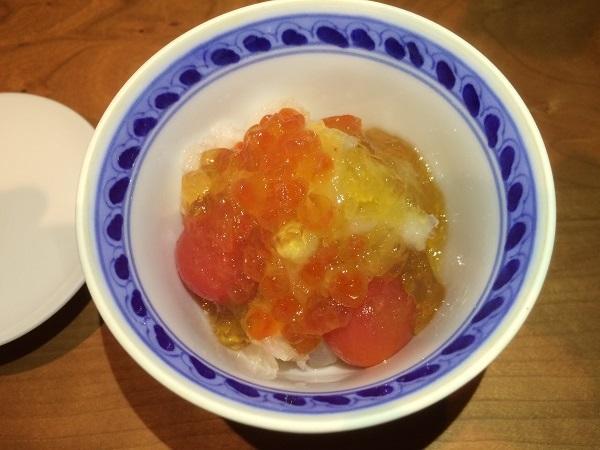 すずきとトマトの酢漬け