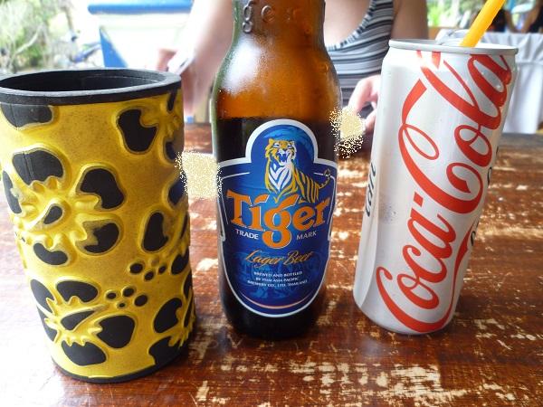 タイガービールとダイエットコーラ