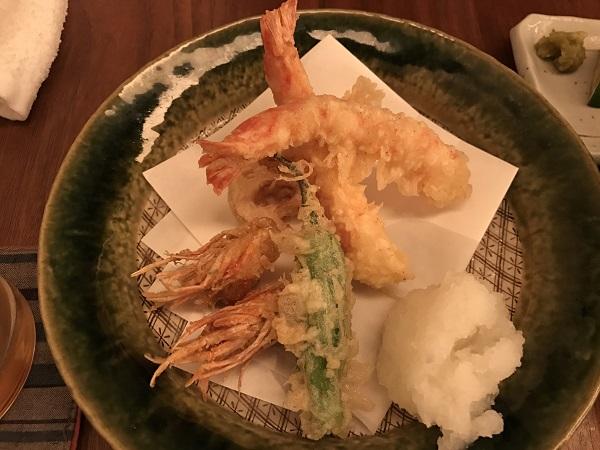 巻き海老の天ぷら