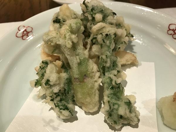 季節野菜の天ぷら トリュフ塩