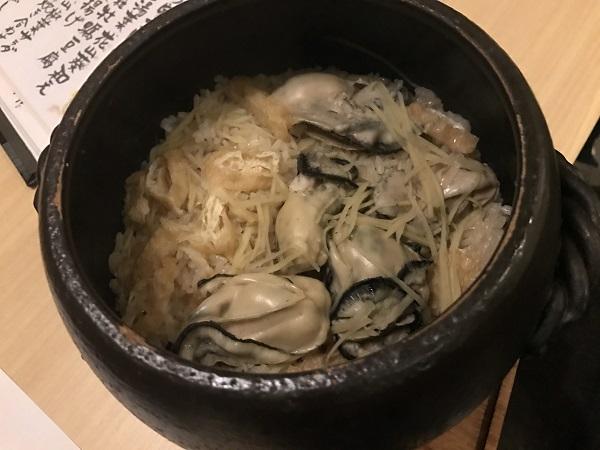 牡蠣と新生姜の炊き込みご飯