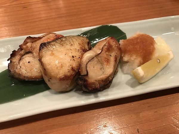 牡蠣と鰆の焼き物
