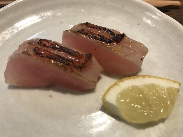金目鯛の炙り