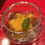マンゴーの白ワインゼリー