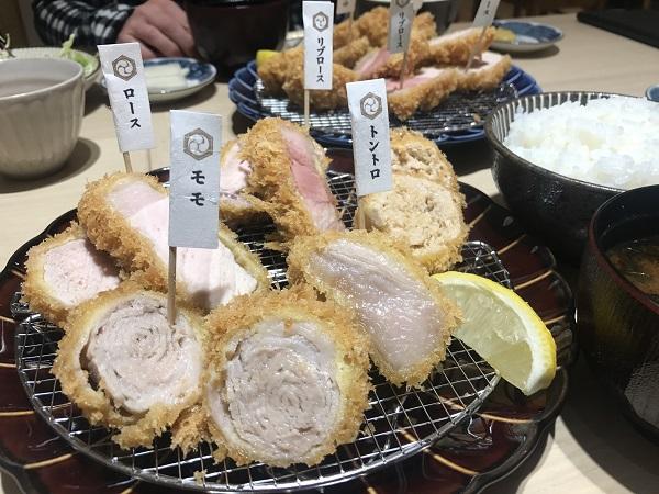 とんかつ一頭揚げ「亀かわ」5種類のとんかつ食べ比べ