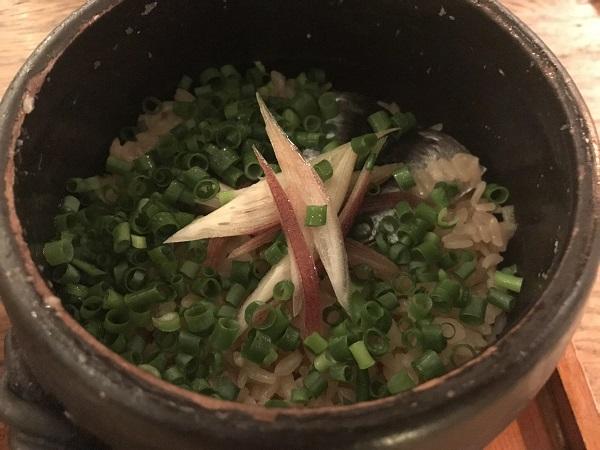 鰯と香味野菜の炊き込みご飯