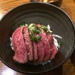 山形牛の牛タタキ丼
