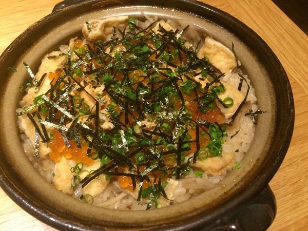 いなきやの土鍋ご飯(あさひ蟹といくら) (1)