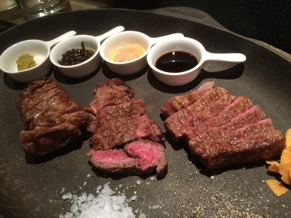 i-TABLE(アイテーブル)肉三種盛り
