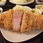 黒豚の特ロースかつ定食 (2)