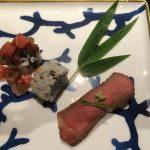 松阪牛の握り寿司と巻寿司