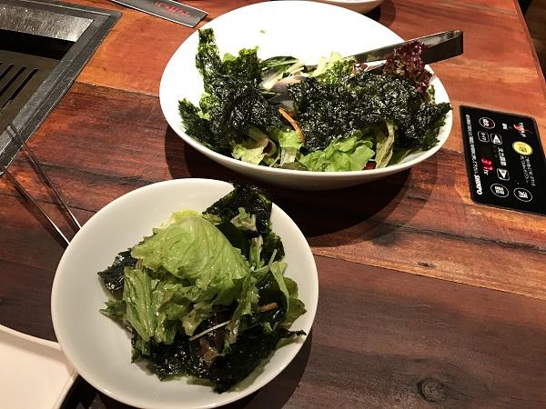 わかめと韓国のりサラダ