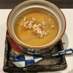 生湯葉と生麩の茶碗蒸し