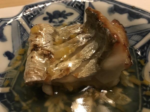 太刀魚の柚子あんかけ