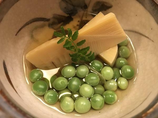 筍の土佐煮とうすい豆