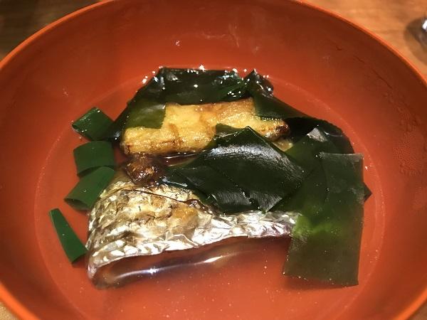 太刀魚と筍とわかめのお椀