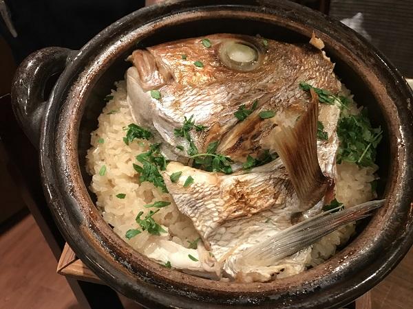 鯛の炊き込みご飯