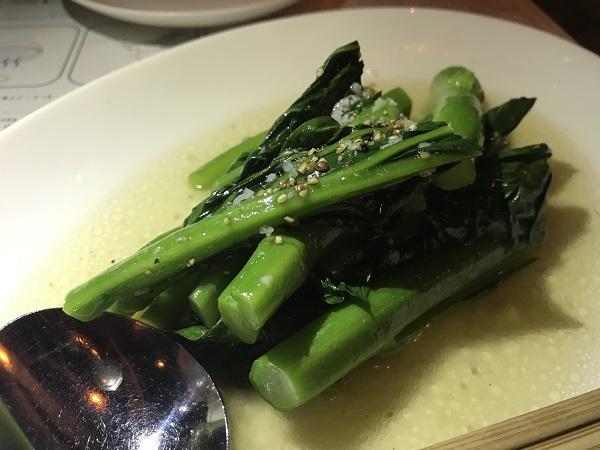 中国ブロッコリ(カイラン)のガーリック&ナンプラー炒め