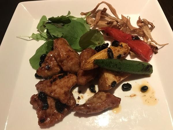 豚肉と季節野菜の中国みそ炒め