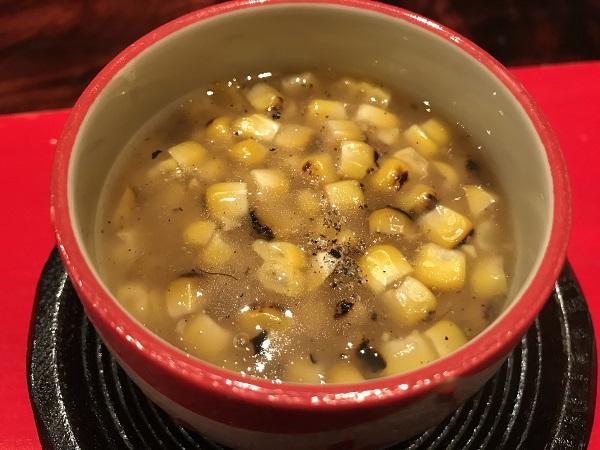 天使のエビと焼きトウモロコシ茶碗蒸し