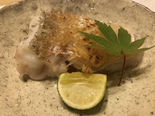 ぐじ(甘鯛)のパリパリ焼き