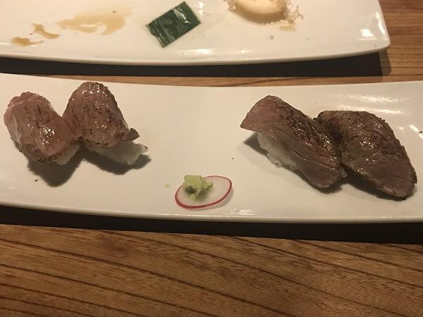 肉寿司2種