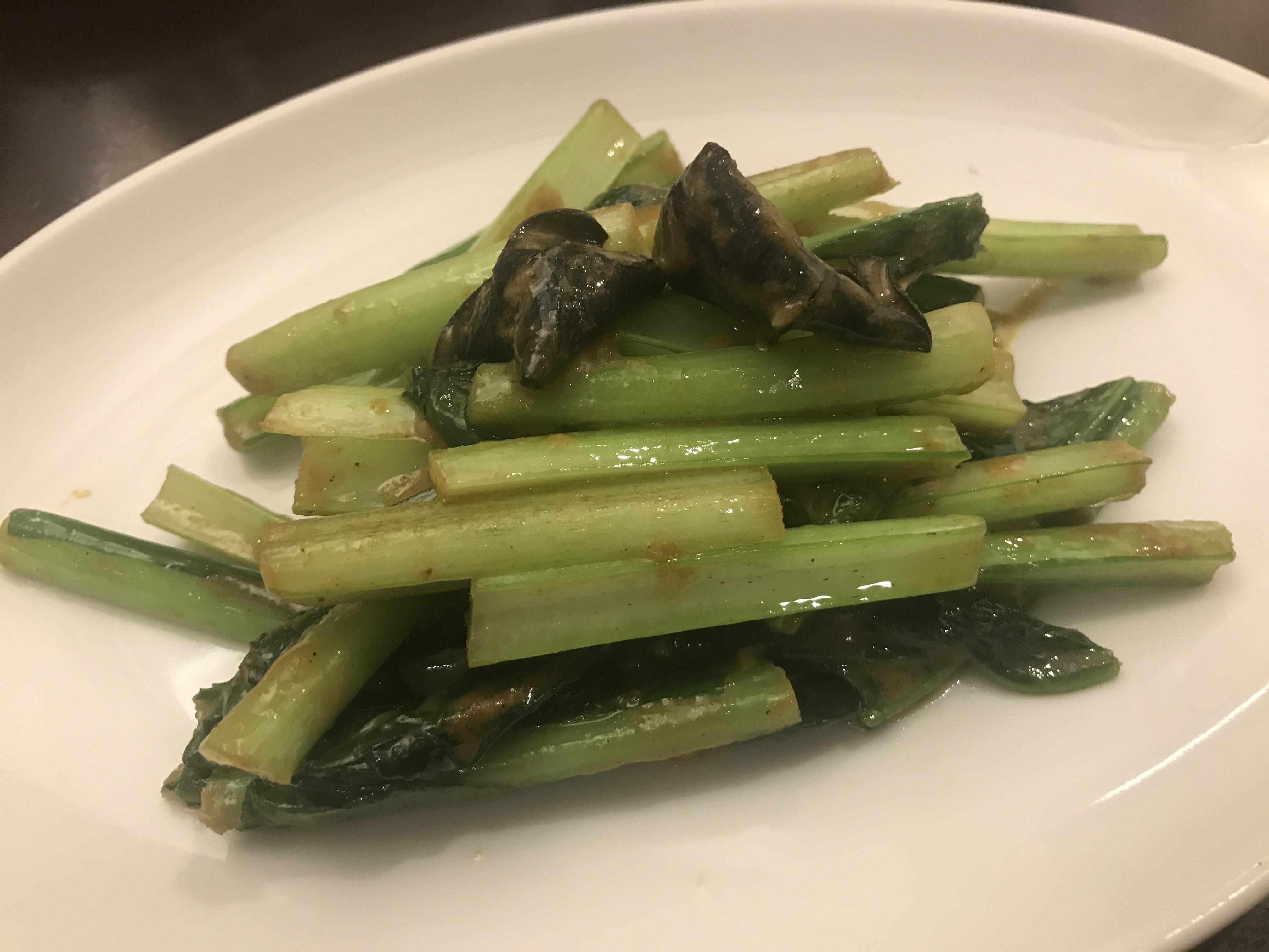 タイ風 海老味噌とカレー風味の青菜炒め