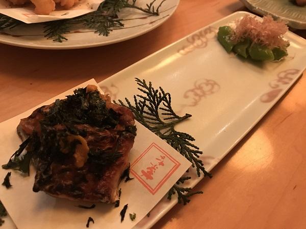 太刀魚の雲丹醤油焼き