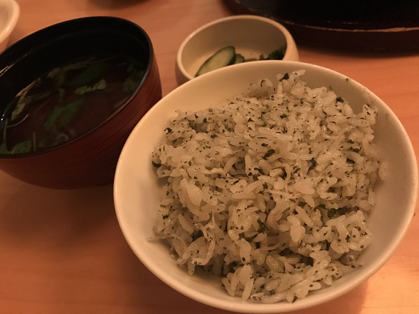 玉露とじゃこの土鍋飯2