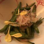 菜な「鱧と金針菜の梅肉和え」