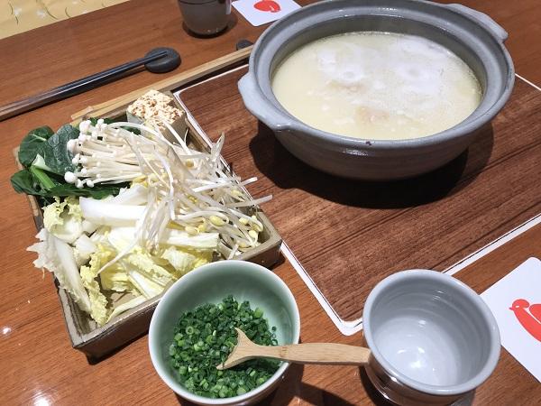 水炊きと野菜